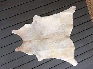 Luxury Skin Pelt Hide Leather A Grade White 74/75cm Rug
