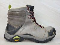 Ahnu Hiking boots Womens Size 9.5 Montara Waterproof Leather Lace Up Grey/Green
