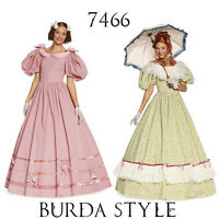 Burda 7466 Sewing Pattern Victorian Dresses 1895 Costumes Anne of Green Gables