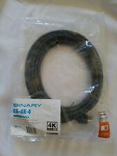 Binary B6-4K-4 HDMI Cable Cord Ultra HD B6  High Quality Speed Ether 13'