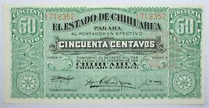 {DO500D} Mexico Banknote Estado de Chihuahua 50 Centavos