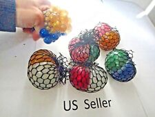 2 in 1 Glitter mesh sensory stress ball toy autism squeeze anxiety squishy 1 Pcs