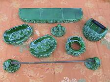 Set ceramica accessori bagno '50/'60 vintage portasapone pottery fayence keramik