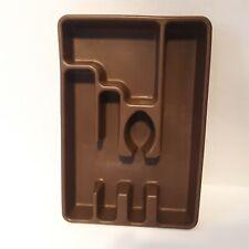 70s Vintage RUBBERMAID Flatware Storage Brown Cutlery Silverware Tray Coppertone