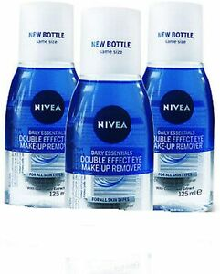 3 X Nivea Daily Essentials Double Effect Eye Make-Up Remover 125ml