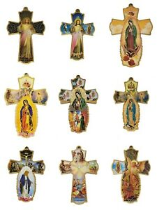 12X Catholic Wooden Wall Cross Crucifix For Baptism Communion Christening Favor