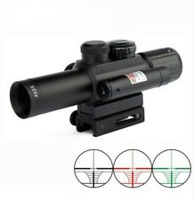 4X25 Hunting Rifle Scope with Red Laser Sight Water/Fog proof Waterproof