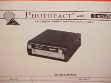 1976 PIONEER CAR AUTO 8-TRACK STEREO TAPE PLAYER SERVICE MANUAL TP-232AE 233EA