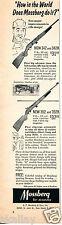 1958 Print Ad of Mossberg Model 342 & 352 .22 Rifle