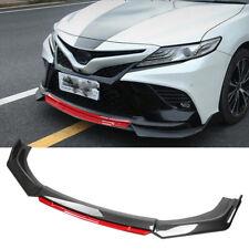 For Toyota Camry 2000 2021 Front Bumper Lip Splitter Chin Spoiler Carbon Fiber Fits Toyota Yaris