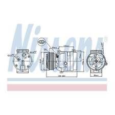 Fits Nissan Primastar X83 2.5 dCi 150 Genuine Nissens A/C Air Con Compressor