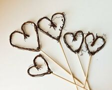 """Blended Family Cake Topper, Twig Heart Wedding Cake Topper, 3"""" & 4"""" mix & match"""