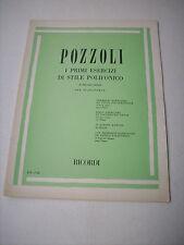 POZZOLI I PRIMI ESERCIZI DI STILE POLIFONICO PER PIANOFORTE