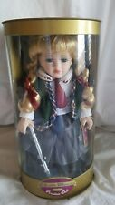 "Collectible Memories Cassie 11.5"" Porcelain Doll With Scooter and Stand New"