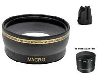 58mm Digital Wide Angle Lens for Canon PowerShot S5 IS S3 IS S2 IS Camera