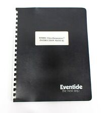 Eventide H3000S Ultra Harmonizer Instruction Manual