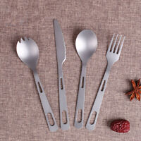 1 Pc 3 in 1 Titanium Fork Spoon Spork Cutlery Utensil Combo Kitchen Outdoor Picn