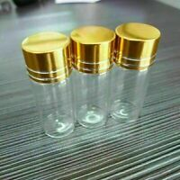 10pcs 10ml 22x50mm Tiny Small Empty Clear Bottles Glass Vials With Screw Cap