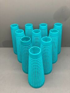 10 Turquoise Blue Plastic Yarn Cones For Wool Winding and Craft Use