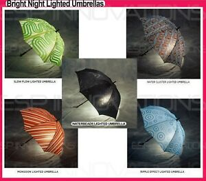 BRIGHT NIGHT NEW LIGHTED UMBRELLAS WITH CARRYING CASE - 5 COLORS TO CHOOSE FROM