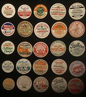 1940's -1960's  Lot of 50 Vintage Mixed Milk Bottle Caps  (AA)