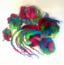 Insprirational Project blue pink green - Wool Silk  ~Felting ~ Textiles ~ Sewing