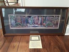 """RANDAL SPANGLER Framed 1994 The Draglings Story """"DRAGON'S DREAM"""" Print #665/1100"""