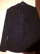 LADIES BLACK TWO PIECE SUIT JACKET SIZE 12 SKIRT SIZE PETITE 10