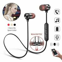 Wireless Bluetooth Headphones Earphones Earbuds Sport Gym Headset with MIC Bass