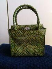 borsa Sisley verde tipo coccodrillo