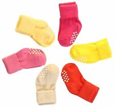 6 Pack - Aymoon Socks Baby Boys-Girls Non-Skid and Anti-Slip Turn Cuff 3-12M
