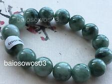 13mm Round elastic jade bracelet 8996 Certified natural A grade jade jadeite