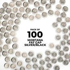 Montana Fat Cap Silver/Black - 100 Pack