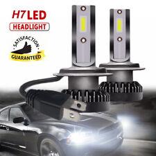 2pcs H7 LED COB Mini Headlight Bulbs Car Driving Fog Lamps DRL High / Low Beam
