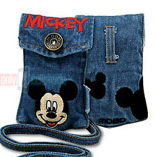 Disney MICKEY Universal Jean Pouch Case for Flip Phones iPhone 5S/SE MP3 iPod