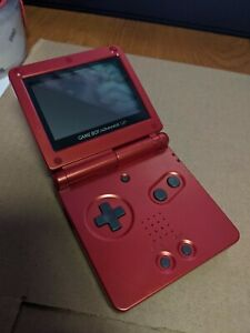 Nintendo Game Boy Advance SP System Console Only GBA Flame Red AGS-001