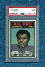 1974 TOPPS ALL PRO #134 ALAN PAGE PSA 9 MINT POP 32 ONLY 2 HIGHER VIKINGS BEARS