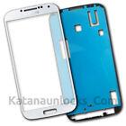 Schermo Vetro per Samsung Galaxy S4 I9500 Bianco Touch Screen Biadesivo