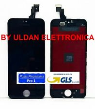 TOUCH SCREEN + LCD DISPLAY RETINA FRAME PER APPLE IPHONE 5S VETRO SCHERMO NERO