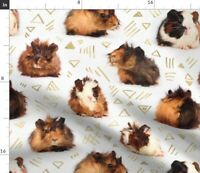Guinea Pigs And Lines Meerschweinchen Fabric Printed by Spoonflower BTY