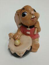 Pendelfin Hand Painted Plaster Figure Bongo 916.722 Pink Coated Rabbit with Drum