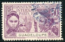 TIMBRE  COLONIES FRANCAISES GUADELOUPE OBLITERE N° 124 COTE 6,25 €