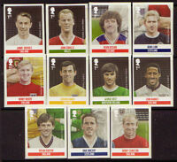 GREAT BRITAIN 2013 FOOTBALL HEROES SELF ADHESIVE  SET OF 11 UNMOUNTED MINT, MNH