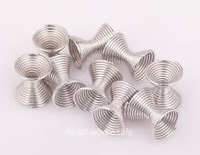 20 pcs Stainless Steel Charm Spacer Bead Caps Jewelry Finding 10x8mm