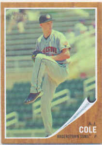 A.J. COLE SUNS 2011 TOPPS HERITAGE MINOR LEAGUE GREEN TINT #84 CARD 459/620