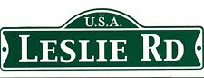 Green Street Room Sign Personalized  ~ USA LESLIE RD ~ Stocking Stuffer ~ LESLIE