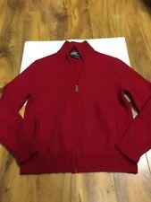 Ralph Lauren Boys Lamb Wool Full Zip Sweater Size L