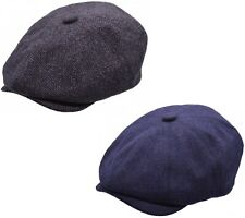 Mens Newsboy Cap Baker Boy Hat Grey or Navy Peaky Blinders Style Flat Cap