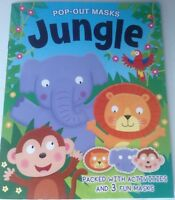 Pop-Out Masks Jungle activity book