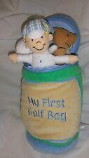 Nwt New! Unisex Baby Gund 'My First Golf Bag' Plush Toy Playset Tee Ball 58746